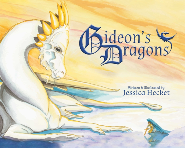Book cover to Gideon's Dragons, written and illustrated by Jessica Hecket