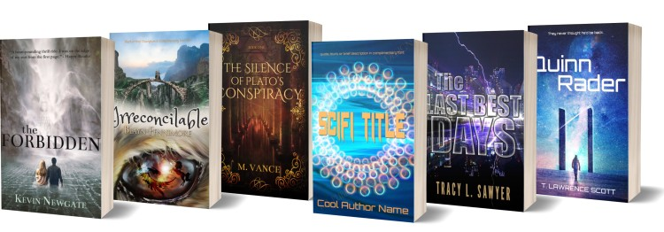 example of six premade cover designs