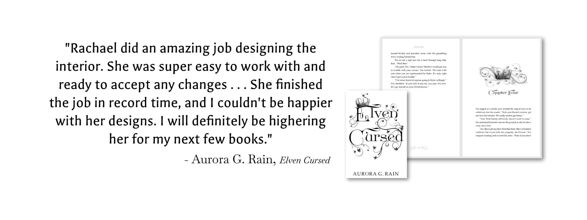 Book design Recommendation from Aurora G. Rain