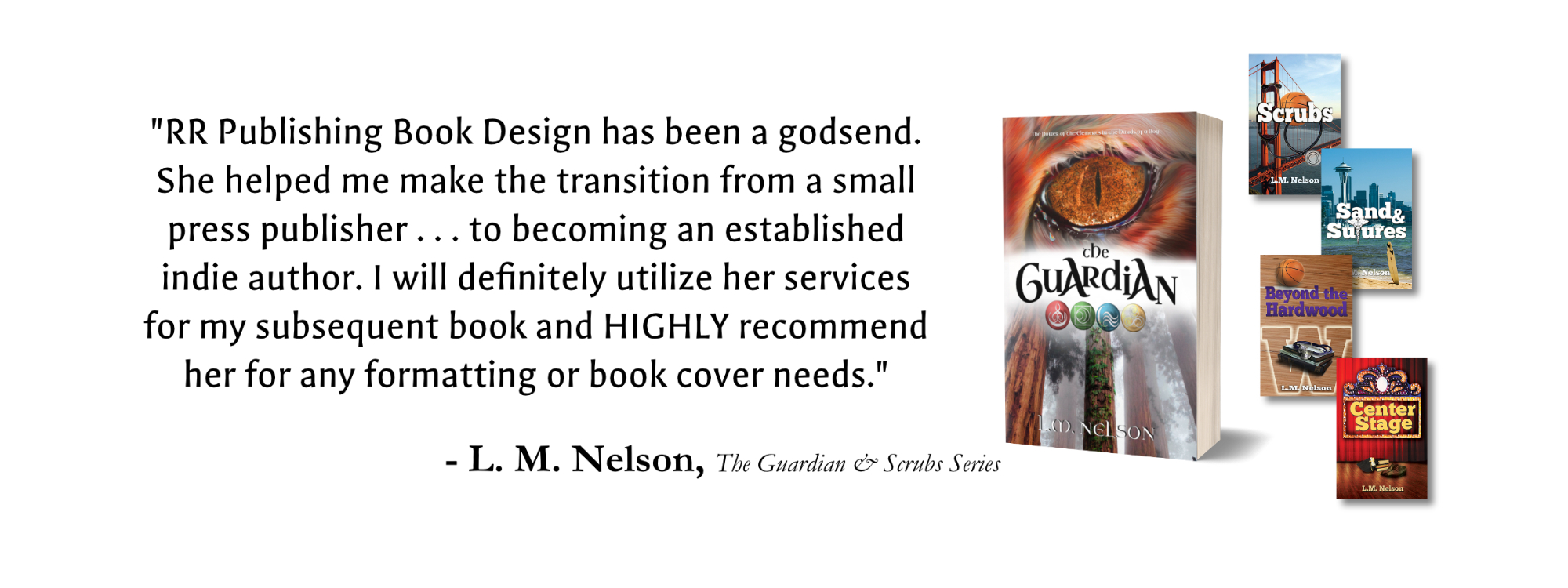 Book design Recommendation from L. M. Nelson