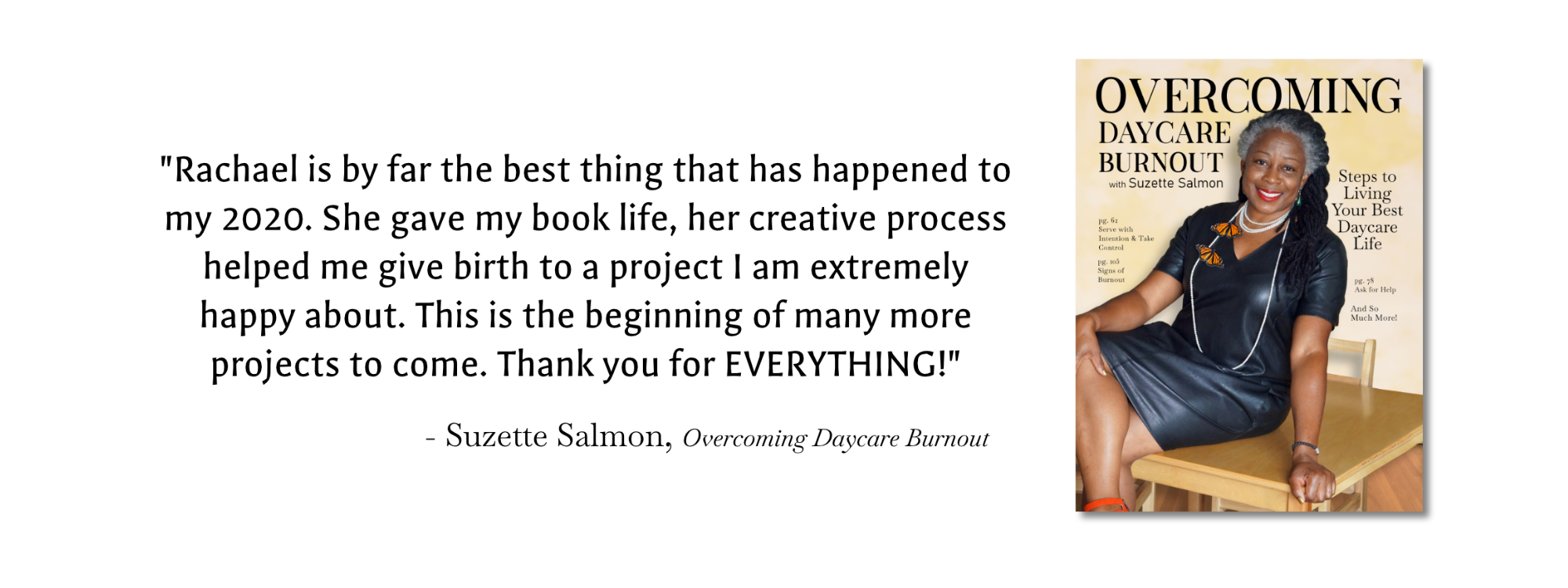 Book design Recommendation from Suzette Salmon