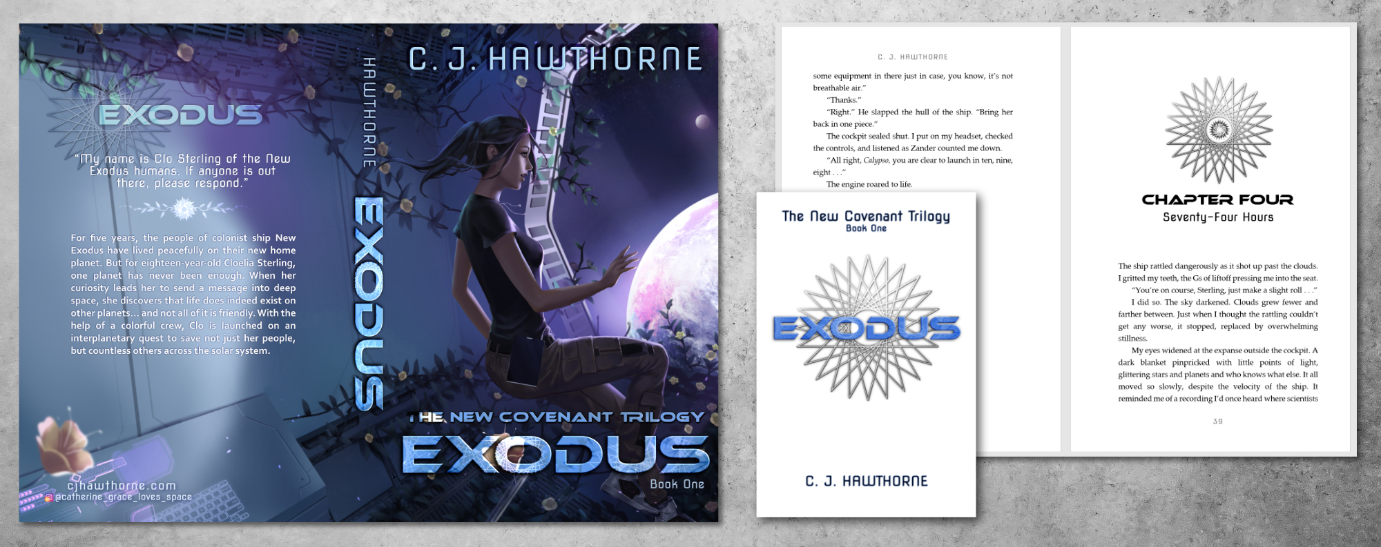 Example image of book Exodus by C. J. Hawthorne