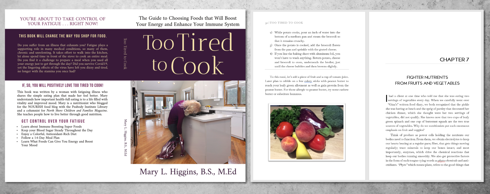 Example image of book Too Tired to Cook by Mary L. Higgins, B.S., M.ed